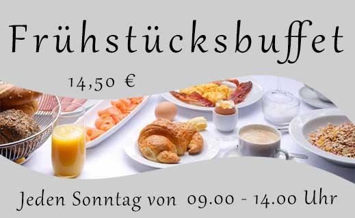 Frühstücksbuffet 14,50 € im Restaurant Altes Amtsgericht